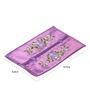 Asian Artisans Purple Silk Vietnamese Tissue Box Cover