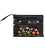 Asian Artisans Vietnamese Silk Black Travel Pouch - Set of 3