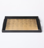 Asian Artisans Vietnamese Golden Wood & Lacquer Coating Tray - Set of 3