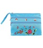 Asian Artisans Vietnamese Light Blue Silk Travel Pouch - Set of 3