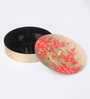Asian Artisans Vietnamese Multicolour Round Candy Box with 4 Compartment