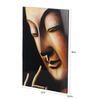Asian Artisans Wooden 12 x 18 Inch Vietnamese Buddha Framed Lacquer Painting