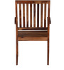 Amarillo Arm Chair in Provincial Teak Finish by Woodsworth