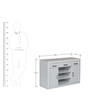 Aspen Sideboard in White Colour by HomeTown