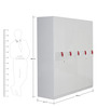 Aster Five Door Wardrobe in White & Red Colour by Royal Oak