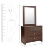 Astra Solidwood Dresser with Mirror in Wenge Colour by HomeTown