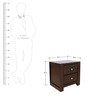 Astra Night Stand in Wenge Colour by HomeTown