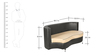 Athena Plus Sofa Sectional (2+2) Seater in Beige & Black Colour by Godrej Interio