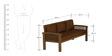 Atlantis Sofa Set in Walnut Finish by CasaTeak
