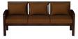 Atlantis Teak Wood Sofa Set (3+1+1) in Mahogany Finish by CasaTeak