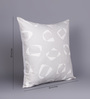 At Home White Cotton 20 x 20 Inch Cushion Cover