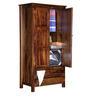 Maritsa Wardrobe with two drawers in Provincial Teak Finish by Woodsworth
