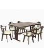 Atlanta Six Seater Dining Table in Dark Brown Colour by Godrej Interio