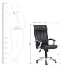 Atlas Executive High Back Chair in Black Colour by Star India