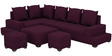 Aursen Modular Sofa with Center Table & Two Pouffes in Deep Orchid Colour by CasaTeak