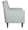 Aubbone Wing Chair In Grey Fabric with Solid Wood Legs by Inscape Design