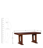 Auburn Six Seater Dining Table with Glass Insert in Provincial Teak Finish by Woodsworth