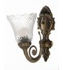 Augusta Wall Light in White by Amberville