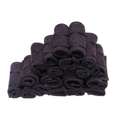 Avira Home Purple Cotton Face Towel - Set Of 20