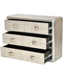 Kanowna Solid Wood Chest of Drawers in Metallic Finish by Bohemiana