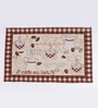 Avira Home Brown Cotton Cafe Latte Table Mat - Set of 2
