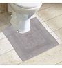 Avira Home Grey 100% Cotton Bath and Toilet Mat  - Set of 2