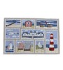 Avira Home Over The Sea Multicolour Cotton & Polyester Table Runner with Placemats - Set of 7