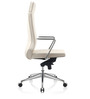 Axis High Back Executive Chair in White PU by Oblique