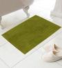 Azaani Brown & Green Cotton Bath Mat - Set of 2