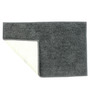 Azaani Modish Gray Cotton 24 x 16 Inch Bath Mat - Set of 5