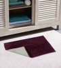 Azaani Gray & Purple 2-piece Bathmat Set