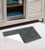 Azaani Micro Blue & Gray 2-piece Bathmat Set