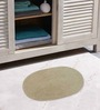 Azaani Gray With 2 Oval Beige Brown 100% Cotton Bath Mat - Set of 3