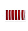 Azaani Red and White Cotton Stripes and Checks Rug - Set of 3