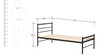 Batz Single Bed in Black Colour by Tube Style