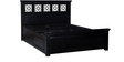 Bayley King Bed with storage in Espresso Walnut Finish by Amberville