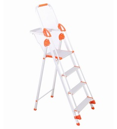 Bathla  Aluminium 3 Steps 5.08 FT Ladder With Platform - 1150035