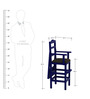 Baby High Chair in Blue Finish by CasaTeak