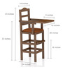 Baby High Chair in Walnut Finish by CasaTeak