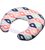 Bacati Emma Aztec Nursing Pillow in Coral Mint & Navy