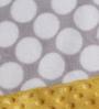 Bacati Grey Dots with Yellow Border Baby Blanket
