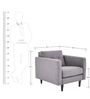 Balberta One Seater Sofa in Grey Colour by Madesos