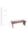 Balganpati Bench in Walnut Colour by Furnicheer