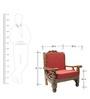 Ballentyne Teak Wood One Seater Sofa in Natural Teak Finish by Finesse