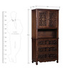 Windsor Hutch Cabinet in Provincial Teak Finish by Amberville