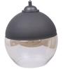 Bandra Flea Market Black & Transparent Metal & Glass Halo Pendant