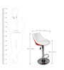 Bar Chair in White & Red Colour by Ventura