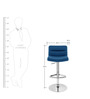 Bar Chair in Blue Colour by The Furniture Store