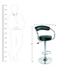 Bar Chair Mendis in Black Colour by @home