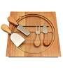 Bar World 5 Piece Cheese Set with Glass Cutting Board